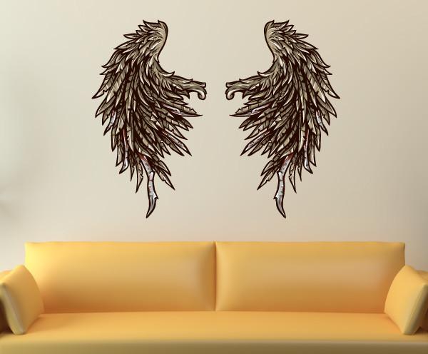 Wings Vinyl Wall Decal WingsUScolor001 Contemporary