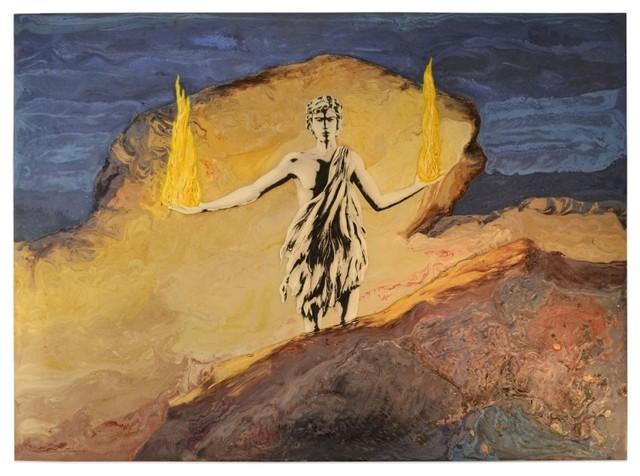 "Prometheus Scagliola Artwork, 60""x44""."