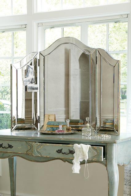 tri fold vanity mirror Brigitte Tri Fold Vanity Mirror tri fold vanity mirror