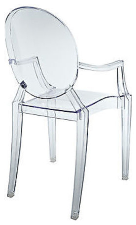 Attirant Louis Acrylic Chair, Clear For Kids