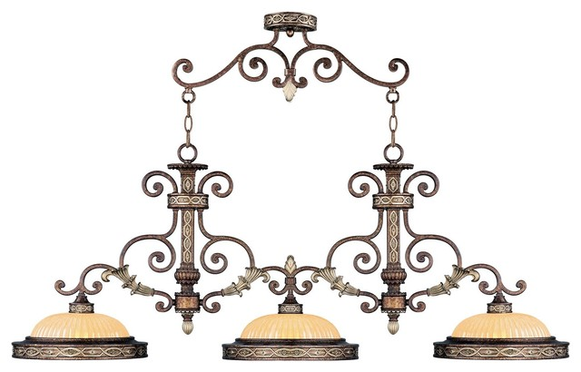 Seville Island Light Palatial Bronze With Gilded Accents