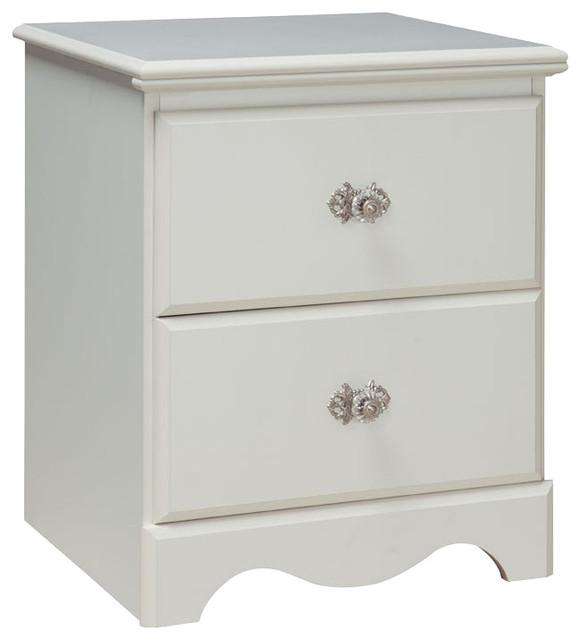 Standard furniture Standard Furniture Daphne 2 Drawer Nightstand in White Nightstands And