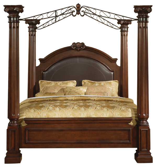 Poster Canopy Bed Prepossessing Juliet King Poster Bed  Traditional  Canopy Beds Myco Furniture Design Inspiration