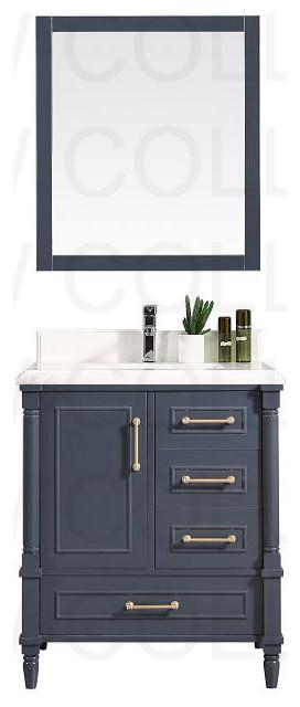 Aberdeen Vanity In Hale Navy Blue