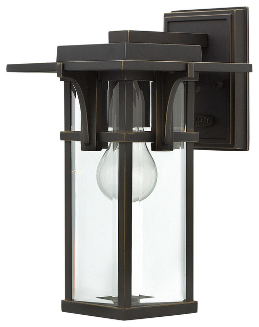 Manhattan Outdoor Lantern Wall Light, Small
