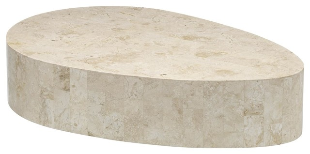Oval Coffee Table, White
