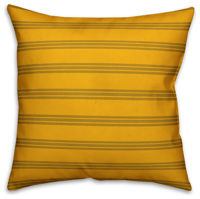 Enjoyable Yellow Stripes Throw Pillow 18X18 Gmtry Best Dining Table And Chair Ideas Images Gmtryco