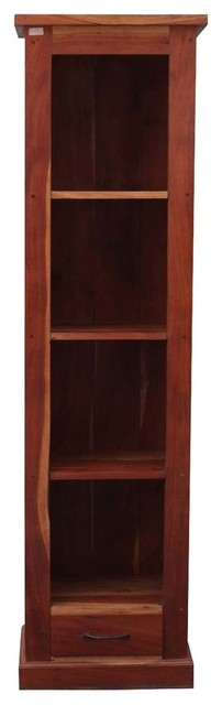 Mission Solid Hardwood 4-Shelf 69 Tower Open Cabinet Bookcase by Sierra Living Concepts