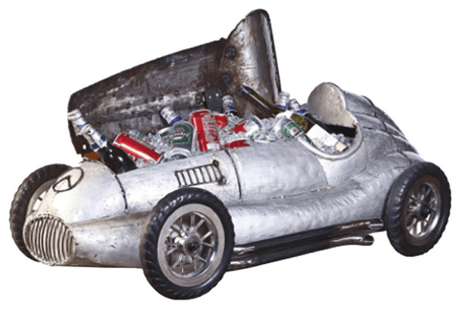 Think Outside Silver Arrow Vintage Race Car Fully