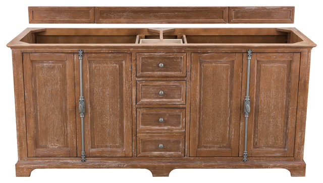 Providence 72 Quot Double Vanity Cabinet Driftwood