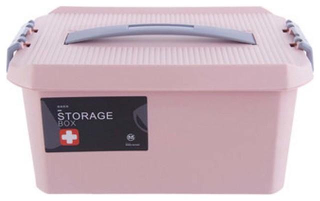 Pink Medicine Storage Container, Box.