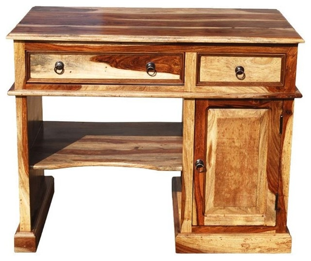 Sierra Living Concepts Solid Wood Computer Desk For Small