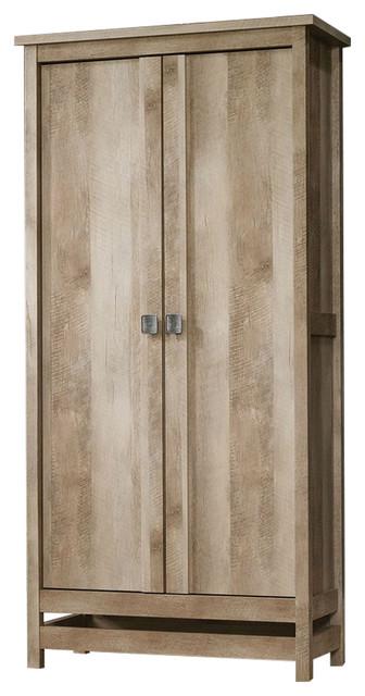 fastfurnishings cottage style wardrobe armoire storage cabinet light oak wood finish. Black Bedroom Furniture Sets. Home Design Ideas