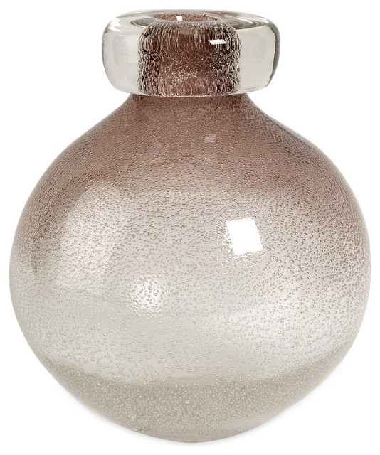 Small glass spa bubble vase transitional vases by for Grand vase decoration salon