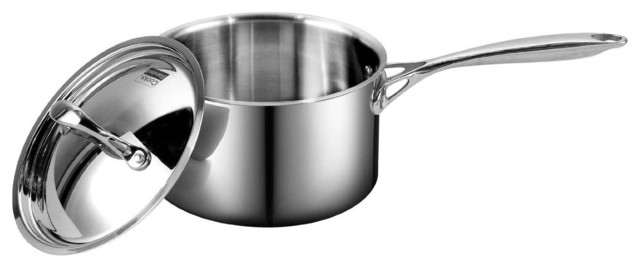 Cooks Standard Multi-Ply Clad Stainless-Steel Covered Sauce Pan, 1.5-Quart.