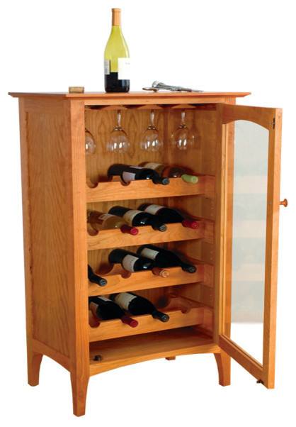 Cambridge Wine Cabinet   Cherry   Contemporary   Wine And Bar Cabinets   By Cherry  Pond Fine Furniture