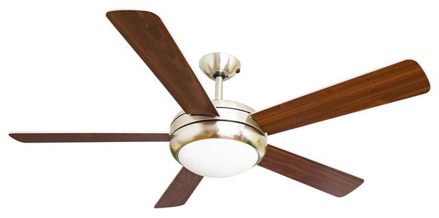 Ursa Ceiling Fan, Silver and Walnut