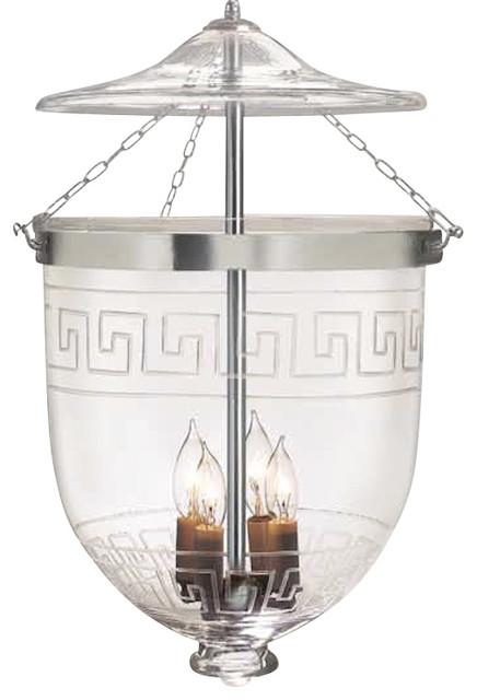 greek key etching hundi glass bell jar lantern 12d antique brass pendant bell jar lighting fixtures