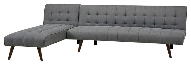 Shelton Marine Convertible Sectional Sofa Bed - Midcentury ...