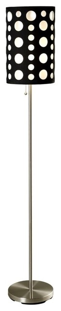 "66""H Modern Retro Black-White Floor Lamp"