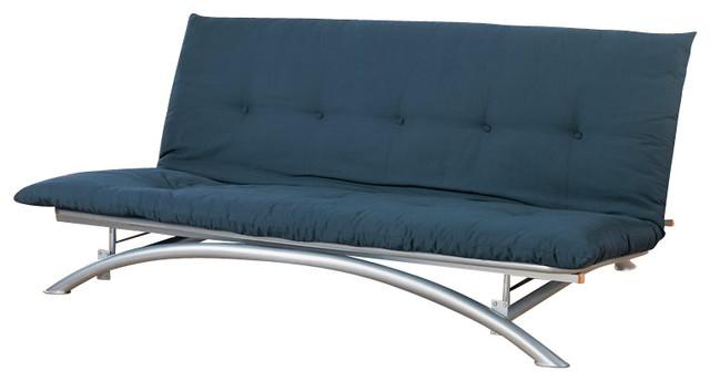 Coaster Furniture Contemporary Metal Futon Frame Silver Frames