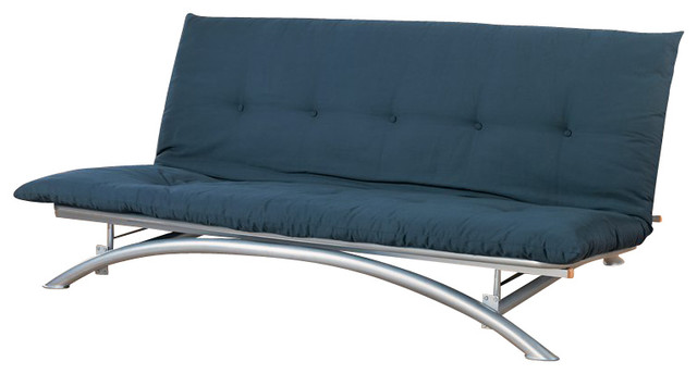 Coaster Futon Frame In Silver Finish 300008