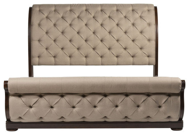 Liberty Furniture Cotswold Upholstered Sleigh Bed, King.