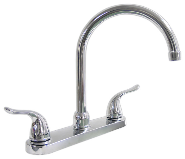 shop houzz kissler dominion kitchen faucet without spray just sinks single handle kitchen faucet polished chrome