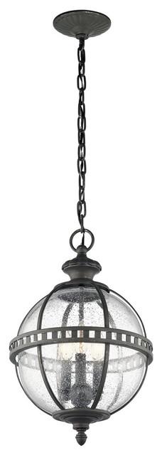 Halleron 3-Light Outdoor Pendants/chandeliers, Londonderry.