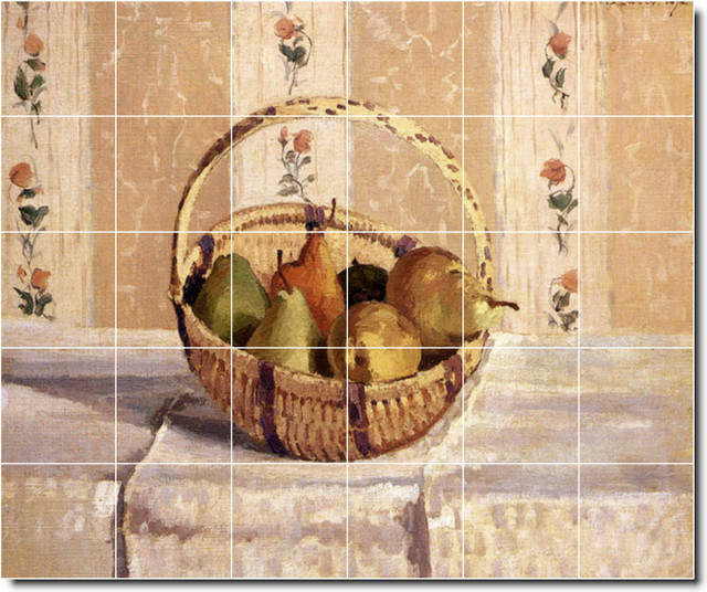 Picture tiles llc camille pissarro fruit vegetables for Ceramic mural painting