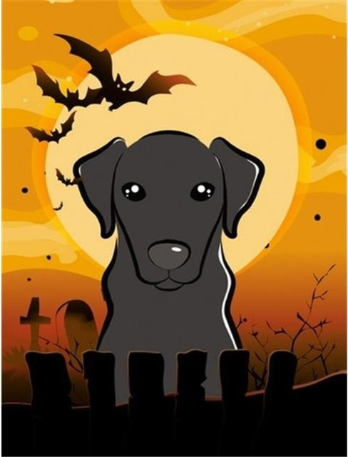 carolines treasures halloween black labrador flag garden size black - Labrador Outdoor Christmas Decoration