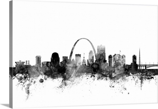Quot St Louis Missouri Skyline Quot Gallery Wrapped Canvas Wall