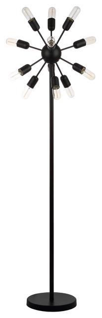 "Safavieh Urban 12-Light 67.5"" High Retro Floor Lamp."