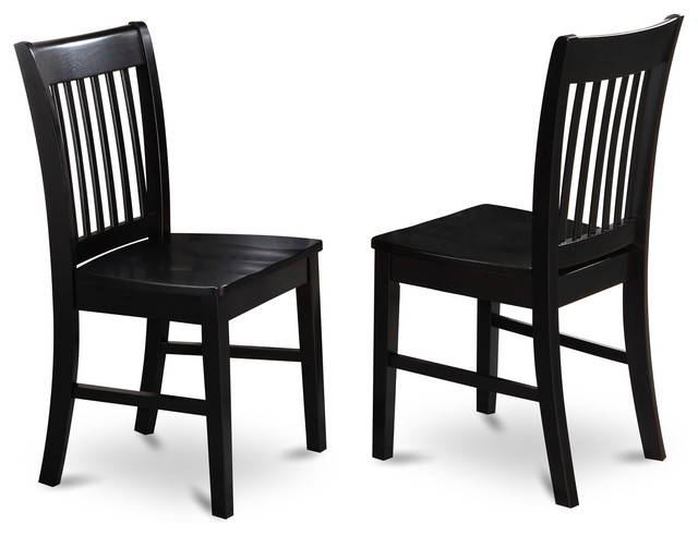 Set Of 2 Norfolk Dining Chair Transitional Dining Chairs By Dinette4less