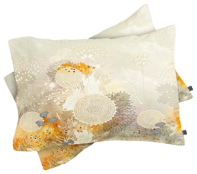 Deny Designs Iveta Abolina White Velvet Pillow Shams, King