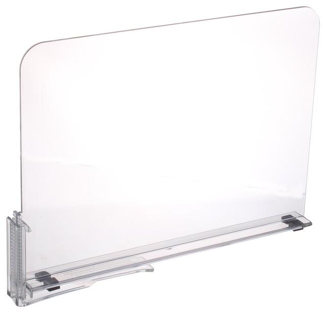 Acrylic Shelf Dividers, Closet Shelves, Organizer Separators.