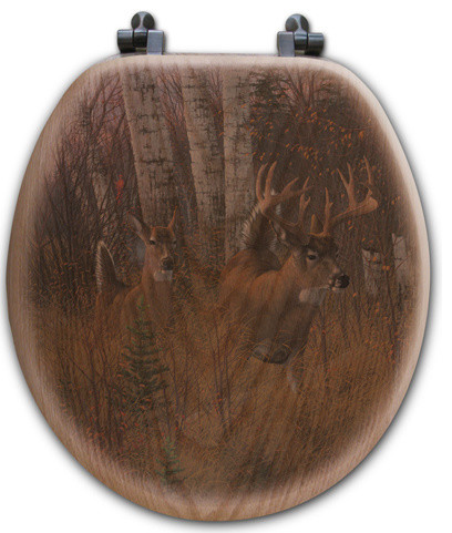 Toilet Seat, Round, Play the Wind rustic-toilet-seats