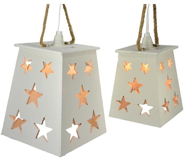 10 And 13 Star Lights, Set Of 2.
