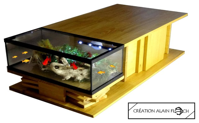 table basse aquarium exotica contemporain table basse autres p rim tres par alain floch. Black Bedroom Furniture Sets. Home Design Ideas