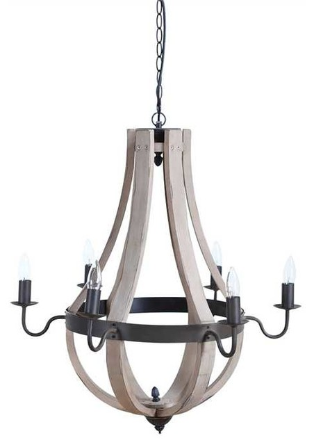 Creative co op lodge wood and metal 6 light chandelier reviews lodge wood and metal 6 light chandelier farmhouse chandeliers mozeypictures Image collections