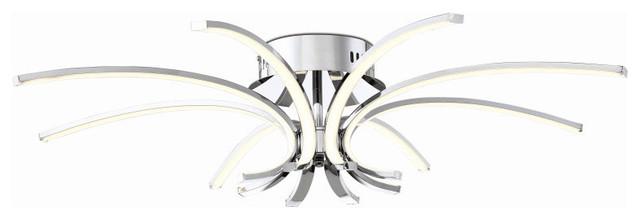 """Eurofase Lighting 31862-011 Spruzzo 8-Light 32"""" Integrated Led Flush Mount."""