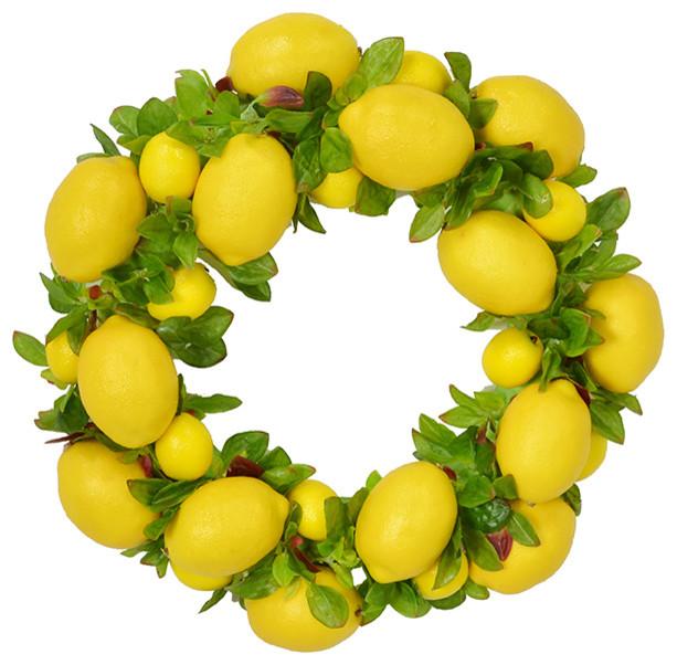 "22"" Lemon Wreath."