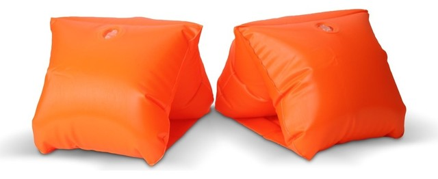 Safety Orange Adult Water Wing Floaties, Novelty Use Only