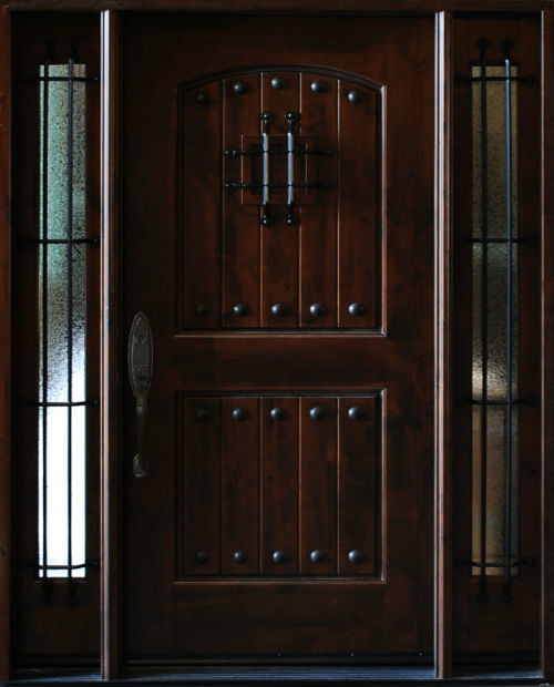Knotty Alder Exterior Front Entry Door 1d2sl 12 36x80 Right