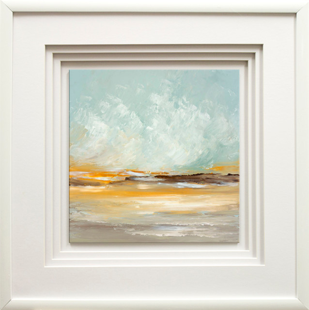 """soft Light I"" By Cat Tesla, With Quad Mat, White Glossy Molding, 21""x21""."