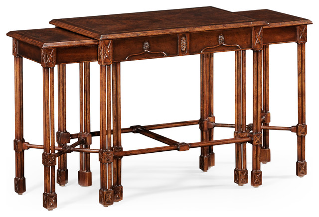 Chippendale Gothic Nest of Tables