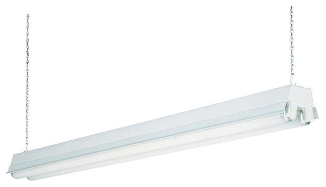 check out 70c61 9fa4e Lithonia Lighting 1233 Shoplight T12 Fluorescent Two-Light Fixture, White,  4'