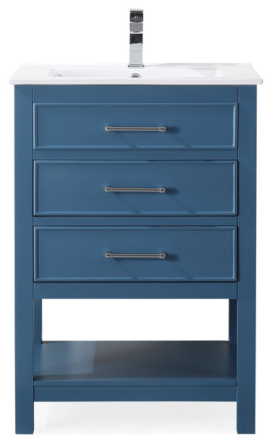 24 Aruzza Small Slim Teal Bathroom Vanity Contemporary Bathroom Vanities And Sink Consoles By Chans Furniture