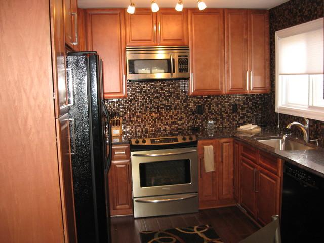 K Series Cinnamon Glaze Kitchen Cabinets Eclectic