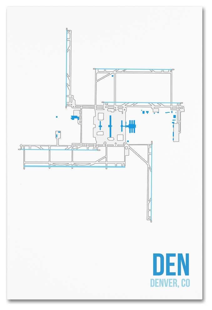 08 Left Den Airport Layout Canvas Art Contemporary Prints And Posters By Trademark Global